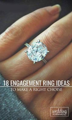 18 Utterly Gorgeous Engagement Ring Ideas  ❤ We collected wonderful and different kinds of engagement rings, in order your choice will be easier and she will be in delight! See more: http://www.weddingforward.com/engagement-ring-inspiration/ #weddings #photos #ring