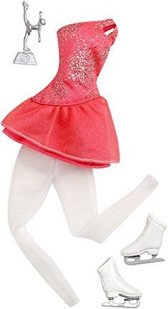 When anything is possible everything is in reach! Girls can explore amazing careers with this line of clothing for Barbie doll. Dress Barbie doll (sold separately) for success as a champion ice skate... Barbie Doll Set, Barbie Sets, Doll Clothes Barbie, Barbie Dream, Mattel Barbie, Accessoires Barbie, Barbie Doll Accessories, Fashion Dresses, Skater Outfits
