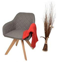 Ts Ideen Lounge Design Sessel Stuhl Clubsessel Holz Anthrazit Stoffbezug  Zum Sitzen Im Wohnzimmer Büro