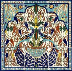 The Peacock Series 1 - Exclusive hand painted ceramic tiles and pottery from the original  Balian-Armenian Ceramics of Jerusalem.