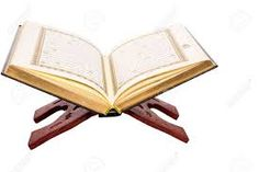 The Islamic scripture, the Holy Quran on a traditional wooden book stand over white background , Wooden Book Stand, Wooden Books, Book Stands, Holy Quran, Business Flyer, Holi, Zip Around Wallet, Meditation, Traditional
