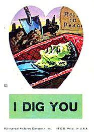 Send your loved one a kooky Frankenstein Valentine !