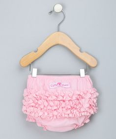 Loving this Pink Ruffle Diaper Cover - Infant on #zulily! #zulilyfinds