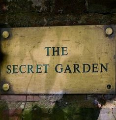 Finding My Secret Garden