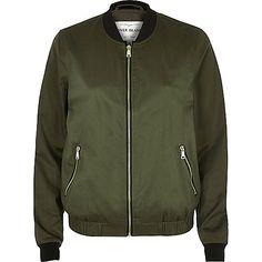 Khaki bomber jacket - bomber jackets - coats / jackets - women