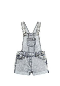 F&F Acid Wash Denim Shorts Dungarees at F&F Clothing