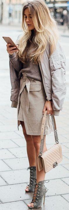 Skirts - River Island / Jacket - Size 8 needle / Cashmere - J.Lindeberg / Bag - Chanel || Molly Rustas
