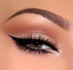 Neutral eyes with gorgeous glam liner