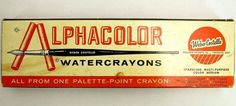 Vintage WEBER COSTELLO Alphacolor Watercrayons No.502, 24 Color Sticks 1960s  | Crafts, Art Supplies, Drawing & Lettering Supplies | eBay!