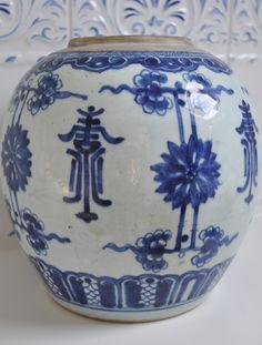 Deft blue & white pot