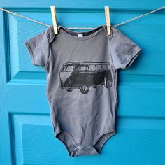VW bus onesie... Andy would love this for our baby!