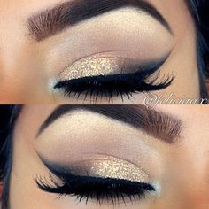 Sparkles! I need some shimmery gold eye shadow.