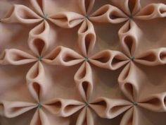 Flower Smocking - fabric manipulation sample; creative sewing techniques; textiles design // Siripirun Saritasurarak by Rajeswari Krishnan