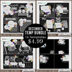 December 2015 Template Bundle :: Gotta Pixel Digital Scrapbook Store