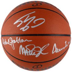 6d447ebb80a Autographed Jerry West, Kareem Abdul-Jabbar, Magic Johnson, Shaquille  O'Neal Fanatics Authentic Indoor/Outdoor Basketball