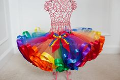 Rainbow Ribbon Trim Tutu by HaloTutus on Etsy, $35.00 link doesn't work 1.6.14