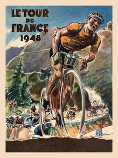 Tour de France 1948. Poster by Paul Ordner (1900-1969)                                                                                                                                                                                 Más