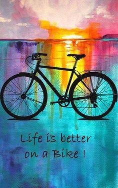 Better On A Bike - painting by Nancy Merkle nancy-merkle.artistwebsites.com #bikelife #bicycling #bikeride