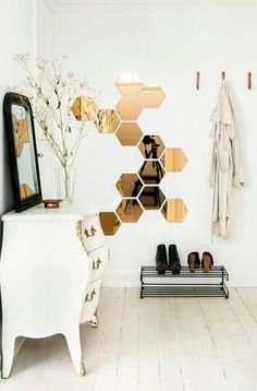 Honeycomb mirrors. my fav.
