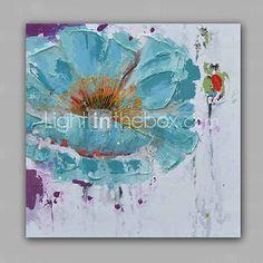 Peint à la main A fleurs/BotaniqueModern Un Panneau Toile Peinture à l'huile Hang-peint For Décoration d'intérieur de 4988602 2016 à €65.85