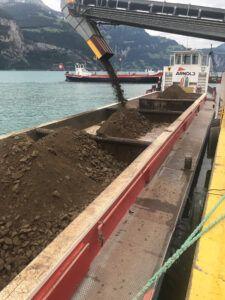 SBB Cargo transportiert Aushub des Ritom-Kraftwerks von Ambri nach Flüelen