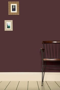 """Paint Pick: Brinjal A historical colour often refered to as """"aubergine"""". Hilary likes Farrow Ball's Brinjal too. This deep purply-red is a daring yet sophisticated autumn colour that would make a great statement in a dining room or hallway. Fall Paint Colors, Room Paint Colors, Wall Colors, Farrow And Ball Paint, Farrow Ball, Farrow And Ball Living Room, Burgundy Walls, Burgundy Paint, Colores Paredes"""