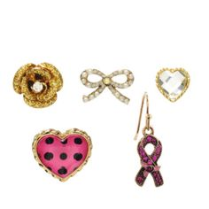 Betsey Johnson earrings I just ordered. Portion of the proceeds go to breast cancer awareness!!
