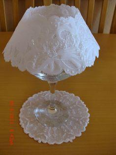 lamparita 2 acabada con soporte de copa de cristal