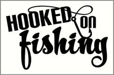 Hooked on Fishing Wall Decal Quote with Fishing Hook Wall Art Vinyl Stickers - how often do you fish?