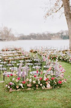 Romantic, whimsical, lush... this February wedding on a lake in Texas is chock full of our favorite things. No surprise they all involve flowers! A winding flower aisle ceremony just off the water, a pink checkered dance floor canopied by a fresh floral ceiling, mid-century modern lounges with rattan chairs, geometric bars and velvet upholstery... we should just let you see it with your own eyes, yes? Magical Wedding, Whimsical Wedding, Perfect Wedding, Floral Backdrop, Backdrop Ideas, Botanical Wedding, Floral Wedding, Blush Weddings, February Wedding