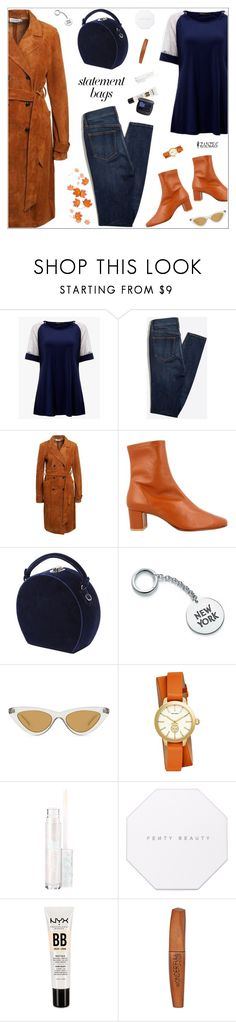 """Autumn Is Here"" by nastenkakot ❤ liked on Polyvore featuring Bertoni, Le Specs, Tory Burch, My Little Pony, Puma, NYX, Rimmel and Bare Escentuals"