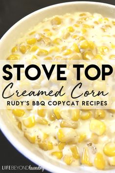 Side dishes in the slow cooker make for an easy dinner, try this Slow Cooker Cheesy Creamed Corn. Rudy's Creamed Corn Recipe, Rudys Creamed Corn, Creamed Corn Can, Sweet Cream Corn, Cream Cheese Corn, Cream Style Corn, Cream Corn Soup, Corn Dishes, Vegetable Dishes