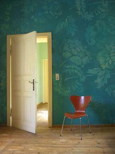 Wohnzimmergestaltung Altes Ornament Auf Lasiertem Untergrund CWandlungen