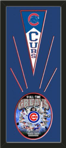 Chicago Cubs Wool Felt Mini Pennant & Chicago Cubs All Time Greats Composite Photo - Framed With Team Color Double Matting In A Quality Black Frame-Awesome & Beautiful-Must For A Championship Team Fan! Most NFL, MLB, NBA, Teams Available-Plz Mention In Gift Message If Need A different Team Art and More, Davenport, IA http://www.amazon.com/dp/B00HYVZ2P6/ref=cm_sw_r_pi_dp_W4AEub09FCFE5