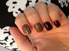 Hot gold and brown nails