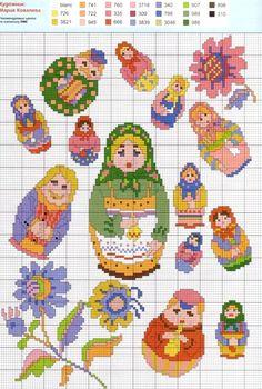 russian dolls pattern