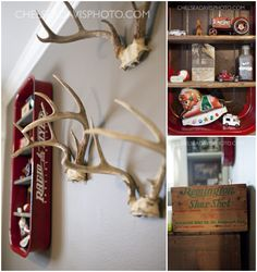 Vintage Hunting Nursery Designed By Ashley from This Country Fried Life/Fawn Over Baby