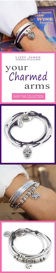 NEW Fall 2016 styles! FREE Shipping on USPS orders plus 15% OFF for all 1st time buyers, let Lizzy James Jewelry help you Fall into Style this Season! Featuring leather & cotton cord wrap bracelets that can also be worn as necklaces, our designs fit all wrist sizes from petite to plus size. Proud to be made in the USA! #lizzyjames
