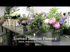 Video of Scented summer garden wedding flowers in Mount Juliet Hotel, Thomastown, Ireland by Dutch Master Florist, Lamber de Bie Flowers