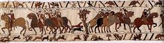 Bayeux Tapestry 8. and led him to Beaurain and held him there