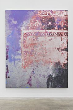Rudolf Stingel Untitled, 2015 Oil and enamel on canvas 95 × 76 inches (241.3 × 193 cm) © Rudolf Stingel  Photo by John Lehr, courtesy of the artist