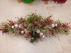 "72"" burlap christmas table centerpiece by kyong"
