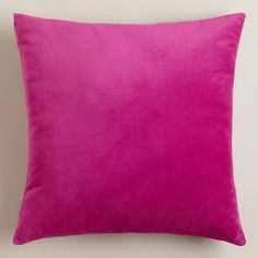 One of my favorite discoveries at WorldMarket.com: Fuchsia Velvet Throw Pillows