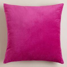 One of my favorite discoveries at WorldMarket.com: Fuchsia Velvet Throw Pillows