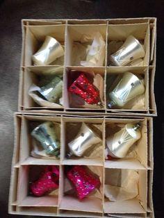 LOT 10 VINTAGE MERCURY GLASS BELL ORNAMENTS CZECHOSLOVAKIA CHRISTMAS MICA