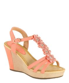 Another great find on #zulily! Coral Flower NXT Wedge Sandal by Anna Shoes #zulilyfinds