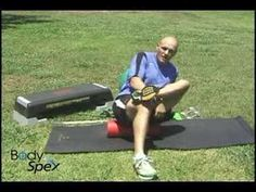 Trainer Jai demonstrates proper self myofascial release technique to massage your piriformis or glutes muscles using a bio-foam roller.
