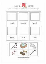 Beginning reader cut-and-paste activities for each letter of the alphabet from www.preschool-printable-activities.com