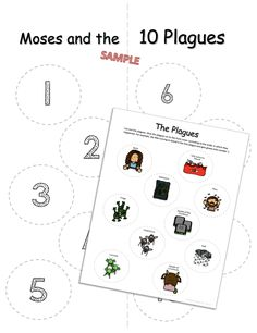 Moses & the Ten Plagues of Egypt Lap Book is a great tool to teach about the 10 plagues God used to release the Hebrew people slavery in the book of Exodus. Plagues Of Egypt, 10 Plagues, Christian Preschool Crafts, Devotions For Kids, Book Of Exodus, Sunday School Crafts, Bible Crafts, Bible Lessons, Devotional Ideas
