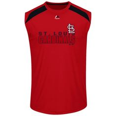 MLB Big & Tall St. Louis Cardinals Majestic Quick Pitch Muscle T-Shirt